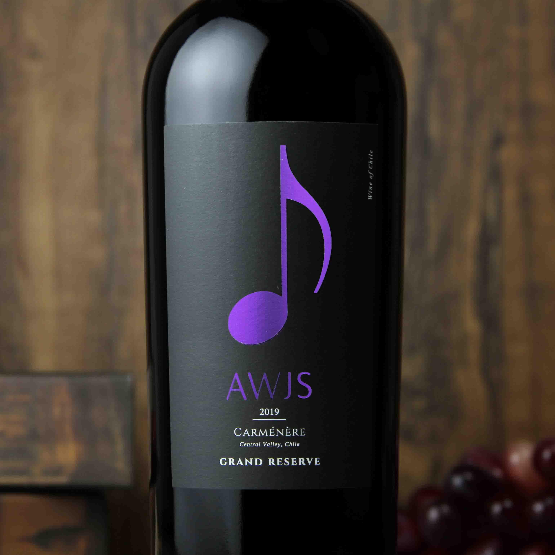 智利中央山谷音符特级珍藏佳美娜红葡萄酒