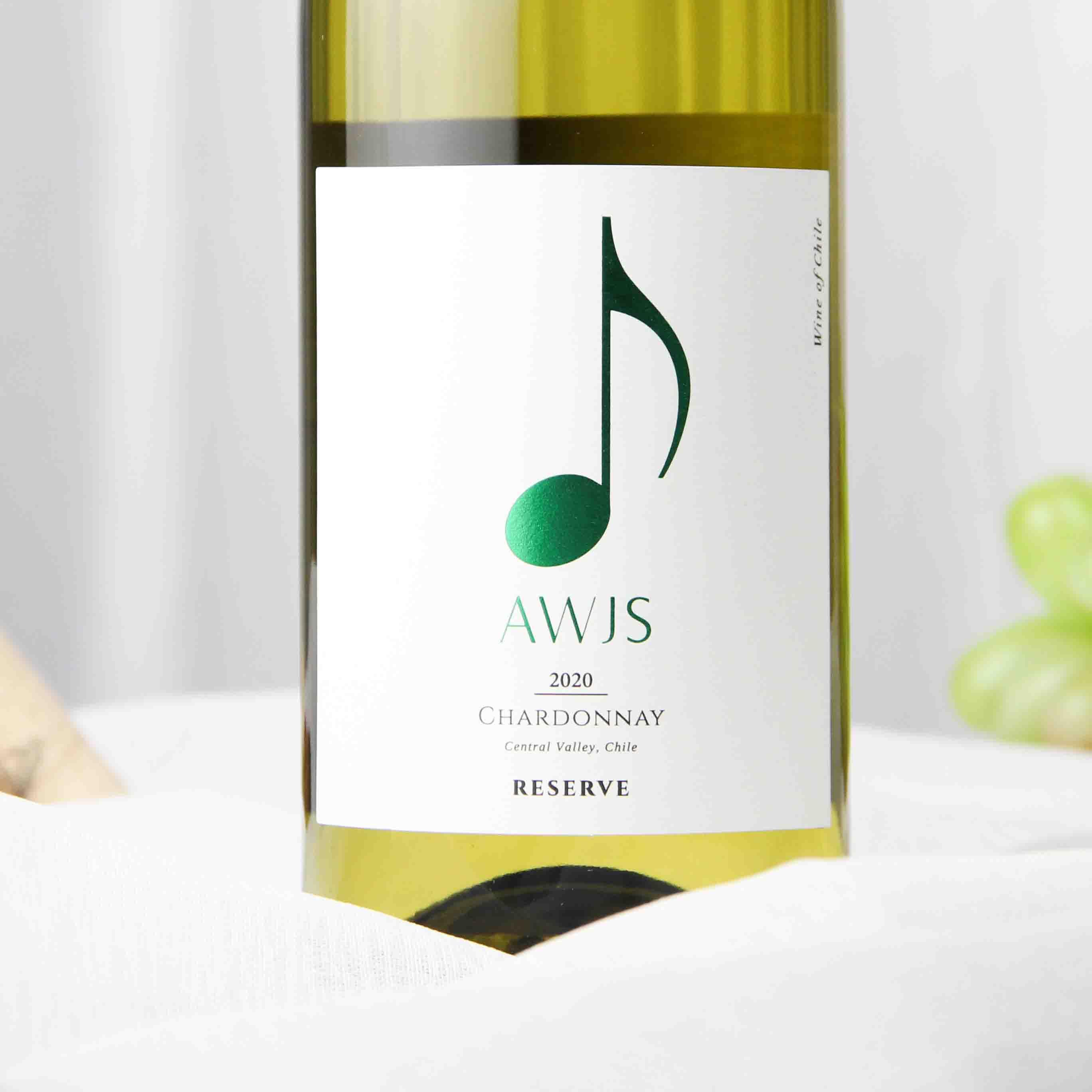 智利中央山谷音符珍藏莎当妮白葡萄酒