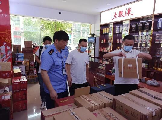 绍兴市市监局开展净化白酒市场行动